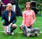 Barn med hund dömdes av Carina Ohlander. Vann gjorde Alma Holmgren med Ch Ridley Ulita