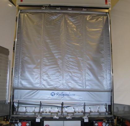 PS Rullgardinen  är ett energidraperi för temperaturreglerade transporter. Med PS Rullgardinen reducerar du enkelt temperaturväxlingen vid transport av kylgods.