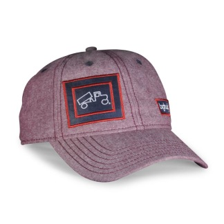 Traditional Cap Chambray Red