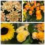 Krans Floristens val -Orange