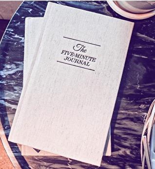 The five minute journal, tacksamhetsdagbok - The five minute journal
