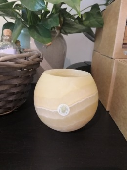 Ljuslykta i alabaster - Ljuslykta i alabaster