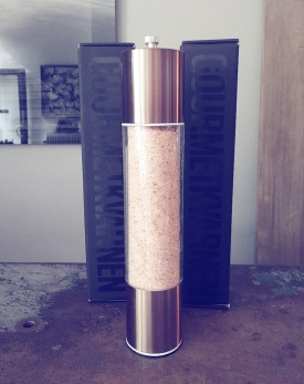 Kryddkvarn i brons med himalayasalt - Kryddkvarn himalaysalt