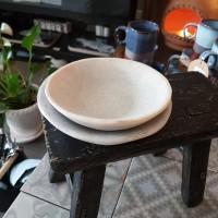 Handgjord skål i marmor