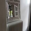 Bohemisk vit spegel/tavla