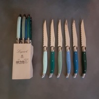 Knivar Laguiole Andre Verdier mixade färger på skaften