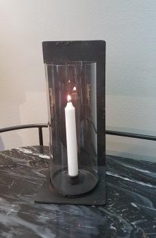 Ljusstake med glascylinder - Ljusstake med glascylinder