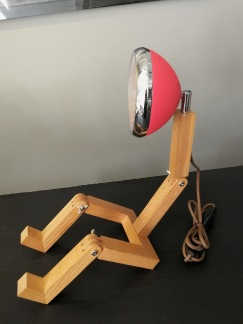 Retrolampa - Lampa Mr wattson röd