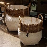 Handgjord bambukorg