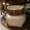 Handgjord bambukorg - Korg stor