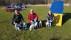 Vi har placerat oss i Agility 55+ Christina Enoksson med Klara och Flax, Kjell Davstedt med Porthos, Tintin och Douglas  Christin Karlsson med Cento.    Foto Christin Karlsson