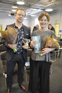 Kusinerna Patrik Ludgren och Anna-Maria Lindholm från K A Lundgren AB Vinnare Årets företag 2018, Foto: Hamid Raziullah