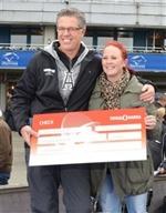 Årets B-tränare erhåller ett stipendium på 20 000 kronor från vår samarbetspartner Trygg-Hansa, utdelare Heidi Svensson (BTR)