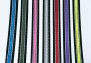 Designa halsband M, 35-40 cm - Reflex svart/rosa 25mm.