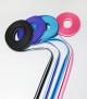 Designa halsband L 40-47 cm - Randig rosa15mm.