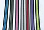 Designa halsband L 40-47 cm - Reflex svart/rosa 25mm.