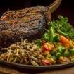Tomahawk steak på tallrik från Malungskock