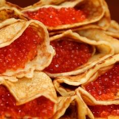 Blinier med kaviar från Malungskock