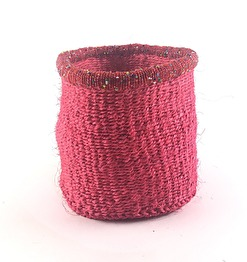 SISAL BASKET SIZE 8 - Red