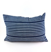MOSSI INDIGO CUSHION STRIPES