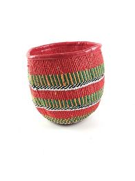 RECYCLED BASKET - Red