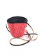 MINI SISAL CROSSBODY BAG - Coral