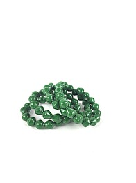 RECYCLED PAPPER BRACELET - GREEN