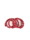 RECYCLED PAPPER BRACELET - RED