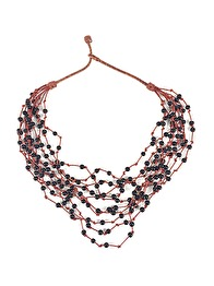 LEATHER BEADS NECKLACE - LEATHER BEADS  NECKLACE