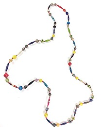 RECYCLED PAPPER NECKLACE - RECYCLED PAPPER NECKLACE