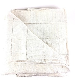 ORGANIC HANDWOVEN BEDCOVER - WHITE NATURAL