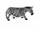 WOODEN ZEBRA - MEDIUM 18 x 11 CM