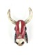 BAMBARA WOODEN COW - RED