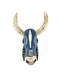BAMBARA WOODEN COW - BLUE