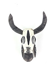 BAMBARA WOODEN COW - WHITE