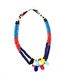 RECYCLED FULANI NECKLACE - BLUE, RED, NAVY BLUE