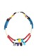 RECYCLED FULANI NECKLACE - BLUE , WHITE, RED