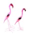 WOODEN FLAMINGO BIRDS - FLAMINGO MEDIUM 35 CM