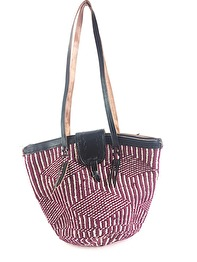 SISAL GRASS BAG MEDIUM - Plum