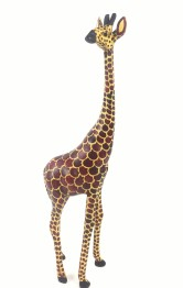 GIRAFFE WOODEN ANIMAL - GIRAFFE WOODEN ANIMAL  47CM