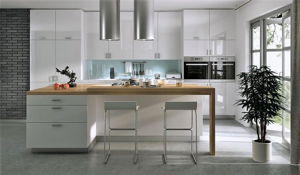 Design Faktum W08 i White Supergloss / Högblank Vit (specialfärg mot pristillägg)