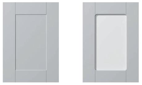 Design Faktum W09 med respektive utan glas.