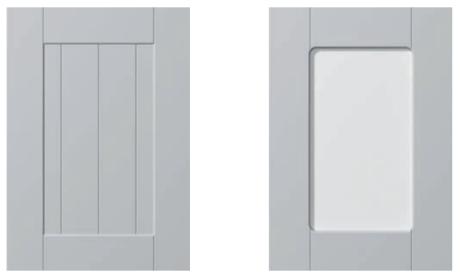 Design Faktum W10 med respektive utan glas.