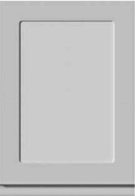 Kökslucka som viitrin/ dörr med glas. Bilden visar UAL-5 med grepp i underkant. Alla UAL-luckor kan beställas som glsasdörr men inte med spröjs. Rambredd 60 mm.