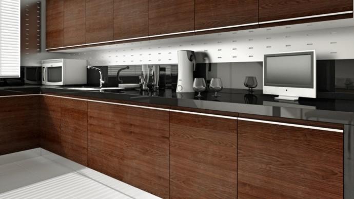 Minimalistisk och clean look med en lång och smal grepplist i aluminium. Design UAL-1.