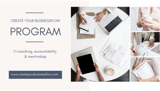 Programmet Create your businessflow