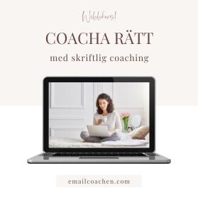 Coacha rätt - med skriftlig coaching