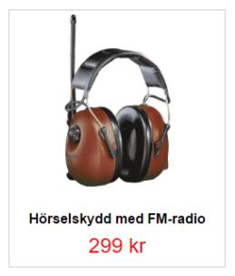 Hörselskydd med FM hittar du här
