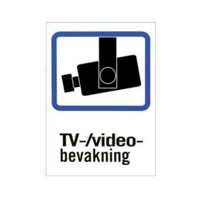 Tv-övervakningsskylt 3-Pack