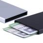 Korthållare kreditfodral RFID-skydd Aluminium Pop-up - Silver